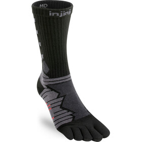 Injinji Ultra Run Crew Socks obsidian
